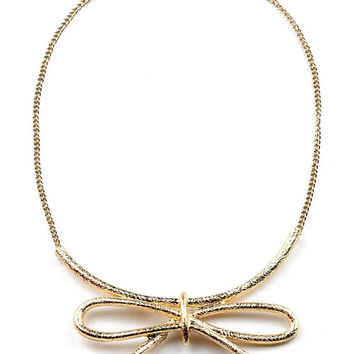 Bow Swing Necklace