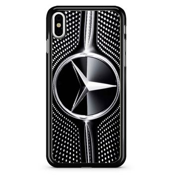 Mercedes Benz Amg Grill Silver iPhone X Case