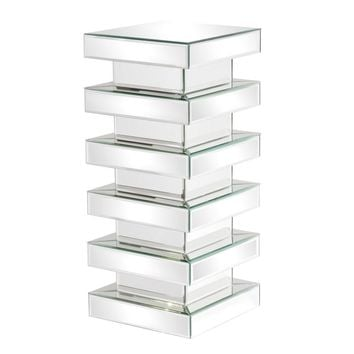 Stepped Mirror on Mirror Pedestal - Medium