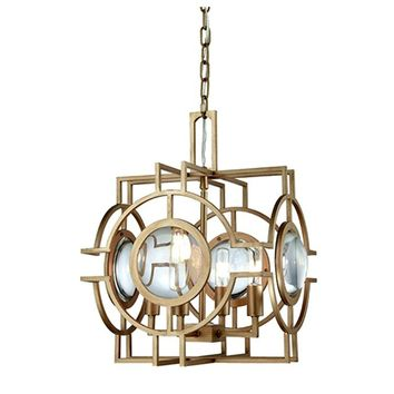 Dimond Lighting Lens Flair Four-Light Pendant