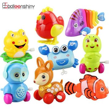 1pcs Mini Baby Clockwork Spring Toy Kids Developmental Educational Lovely Colorful Wind-up Fun Intelligence Random Color