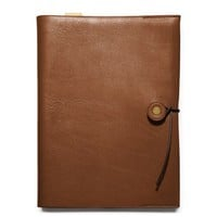 Coach Bleecker Leather A5 Notebook