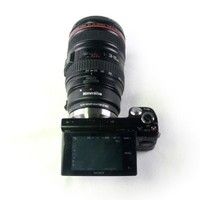 Auto-focus Mount Adapter EF-NEX for Canon EF/EF-S Lens to Sony NEX with IS Exact Exposure