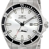 Invicta Men's 15183SYB Pro Diver Silver Dial Stainless Steel Watch with Impact Case