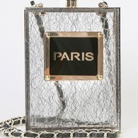 Lace Glitter Paris Perfume Crossbody BLACK LACE