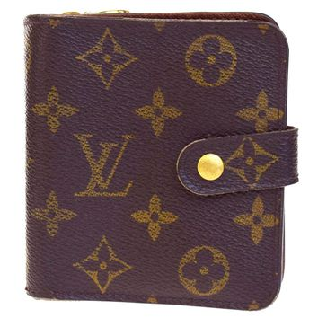 Auth LOUIS VUITTON Compact Zip Bifold Wallet Monogram Leather M61667 02BA174