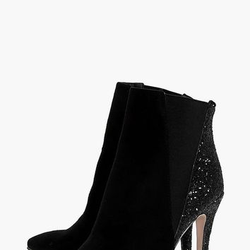 Nadia Glitter Back Pointed Shoeboot | Boohoo