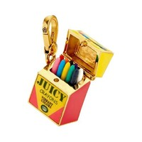 Juicy Couture - Colorful Crayon Box - Gold Plated Charm
