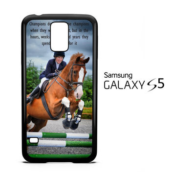 horse jumping photography Y2410 Samsung Galaxy S5 Case
