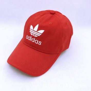 Summer Red Adidas Embroidery Baseball Outdoor Sports Cap Hats