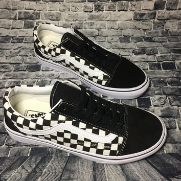 Vans Authentic Anaheim Old Skool Black And White Squares Low Tops Flats Shoes Canvas S