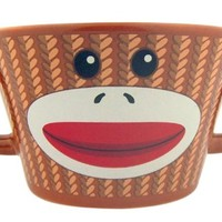 Collectors Gift The Original Sock Monkey 3 Inch H Ceramic Ice Cream or Cereal Bowl