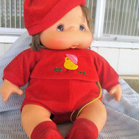 "Vintage Baby Doll Japan 17"" Jointed Hard Rubber Vinyl I K B"