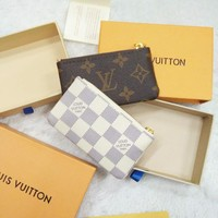 Louis Vuitton Monogram Canvas Key Pouch Key case - purse B-MYJSY-BB White G