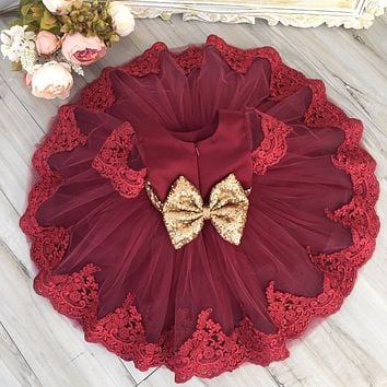 Christmas Dress for Baby Girls Party Princess Vestidos Gift Toddler kids Wedding Bridesmaid Formal Girl clothes 2 3 4 5 6 Years