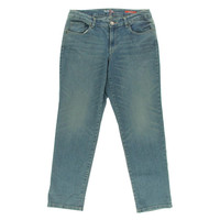 Style & Co. Womens Curvy Fit Mid Rise Ankle Jeans