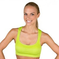Jockey Women's Performance Push Up Seamless Sports Bra