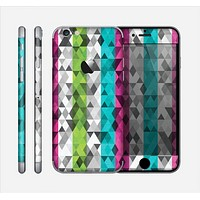 The Trendy Colored Striped Abstract Cube Pattern Skin for the Apple iPhone 6