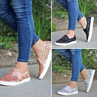 Glitter Slip-On Shoes - 3 Colors