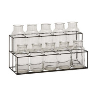 11-Pc. Glass Bottle Display
