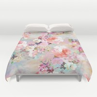Love of a Flower Duvet Cover by Girly Trend