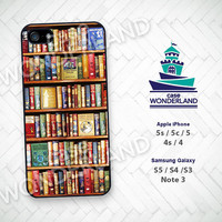 iPhone Case, Bookshelf, Library, Books, iPhone 5 case, iPhone 5C Case, iPhone 5S case, iPhone 4 Case, iPhone 4S Case, Phone Skin, BS05