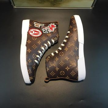 cc DCCK Louis V Supreme Brown