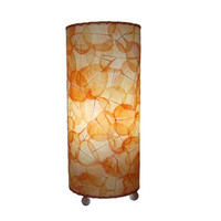 Eangee Home Design 483TO Banyan Leaves Orange One-Light 17-Inch Accent Lamp