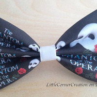 The Phantom Of The Opera Inspired Hair bow or Bow tie