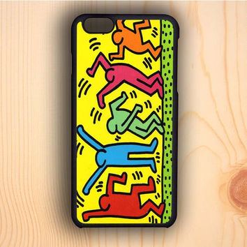 Dream colorful Keith Haring Pop Art iPhone 6 Case