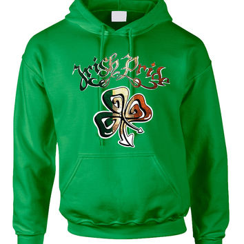 Adult Hoodie Irish Pride Shamrock St Patrick's Party Top
