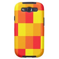 Sunny rectangles pattern galaxy SIII covers from Zazzle.com