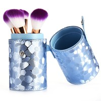 Mermaid color Leather Makeup Brushes Brushes Pen Holder case empty Storage Tube case for makeup brushes container Dispaly stand
