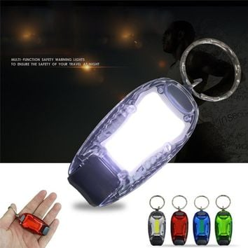 Waterproof Night Running Safety LED Light Cycling Bicycle Outdoor Camping Warning Light Clip for Dog Backpack Bicycle Tail Lamp