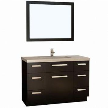 Design Element Moscony 48 in. W x 22 in. D Vanity in Espresso with Quartz Vanity Top and Mirror in White J48-DS at The Home Depot - Mobile