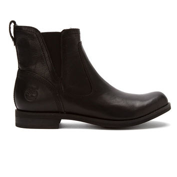 Timberland Earthkeepers Savin Hill Chelsea - Black Leather Pull-On Boot
