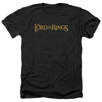 LOR/LOTR LOGO - ADULT HEATHER - BLACK -
