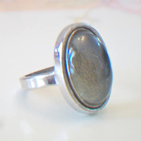 Vintage Mood Ring Retro Jewelry Size 6.5 Color Changing Silver Tone Fashion Accessories For Her