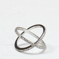 AEO Women's Gemstone X Ring (Silver)