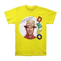 Devo Men's  Q: Are We Not Men? T-shirt Yellow