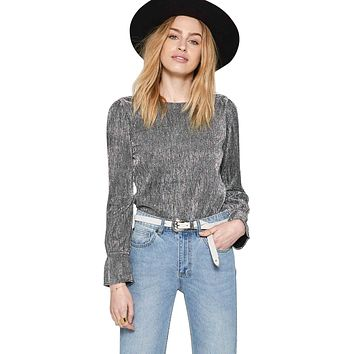 Glimmer Knit Long Sleeve Top