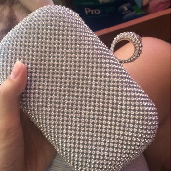 2016 diamond-studded evening bag evening bag with a diamond bag women's rhinestone banquet bag day clutch female 3 Color