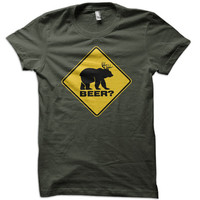 Bear Deer Beer T-Shirt -funny t shirt drinking tee country tshirt redneck usa college farming