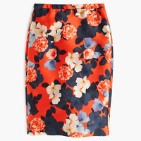 J.Crew Womens Collection Pencil Skirt In Graphic Peony