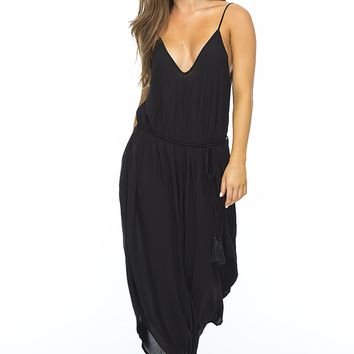 INDAH Ivory Harem Jumpsuit in Black