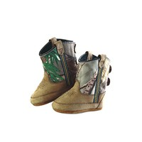 Old West Infant Boy's Poppets Camo Boots - 10039