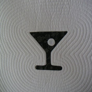 Martini quilted wall hanging