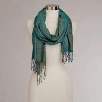 Turquoise Woven Scarf | World Market