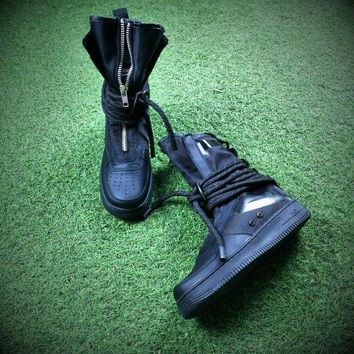Sale Newest Nike SF Air Force 1 High AF1 Black Functional Boots AA1128-202-1