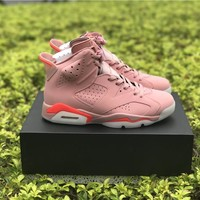 Air Jordan 6 Basketball Shoes Pink Rose Infrared 6S VI Sports Sneaker